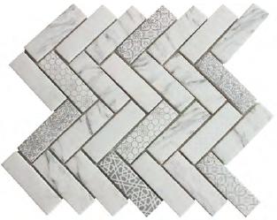 Newest Technology Full Body Herringbone Glass Mosaic