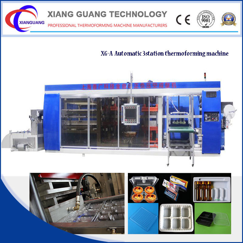 Disposable Plastic Contrainer Thermoforming Machine