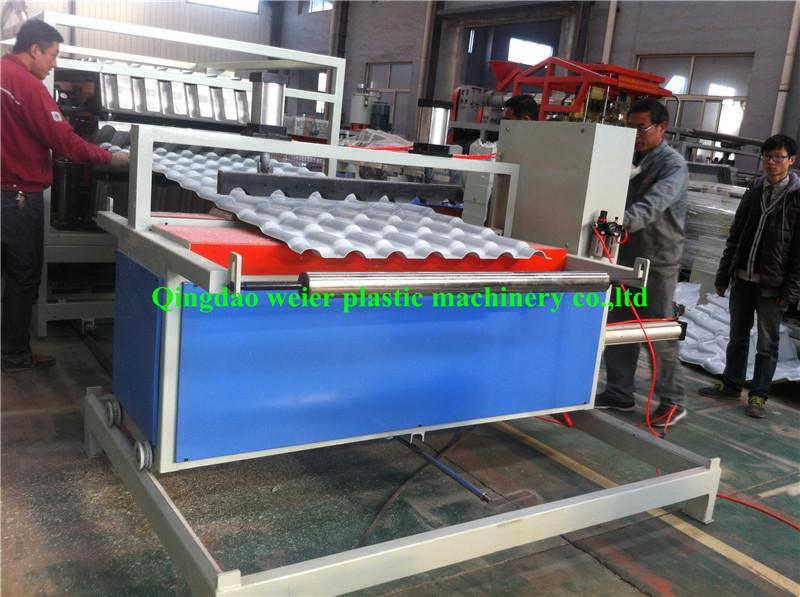 1050mm PVC and ASA Roofing Sheet Extrusion Line