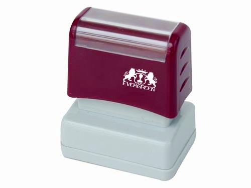 Dual Foam Pre Inked Stamp 17*43mm