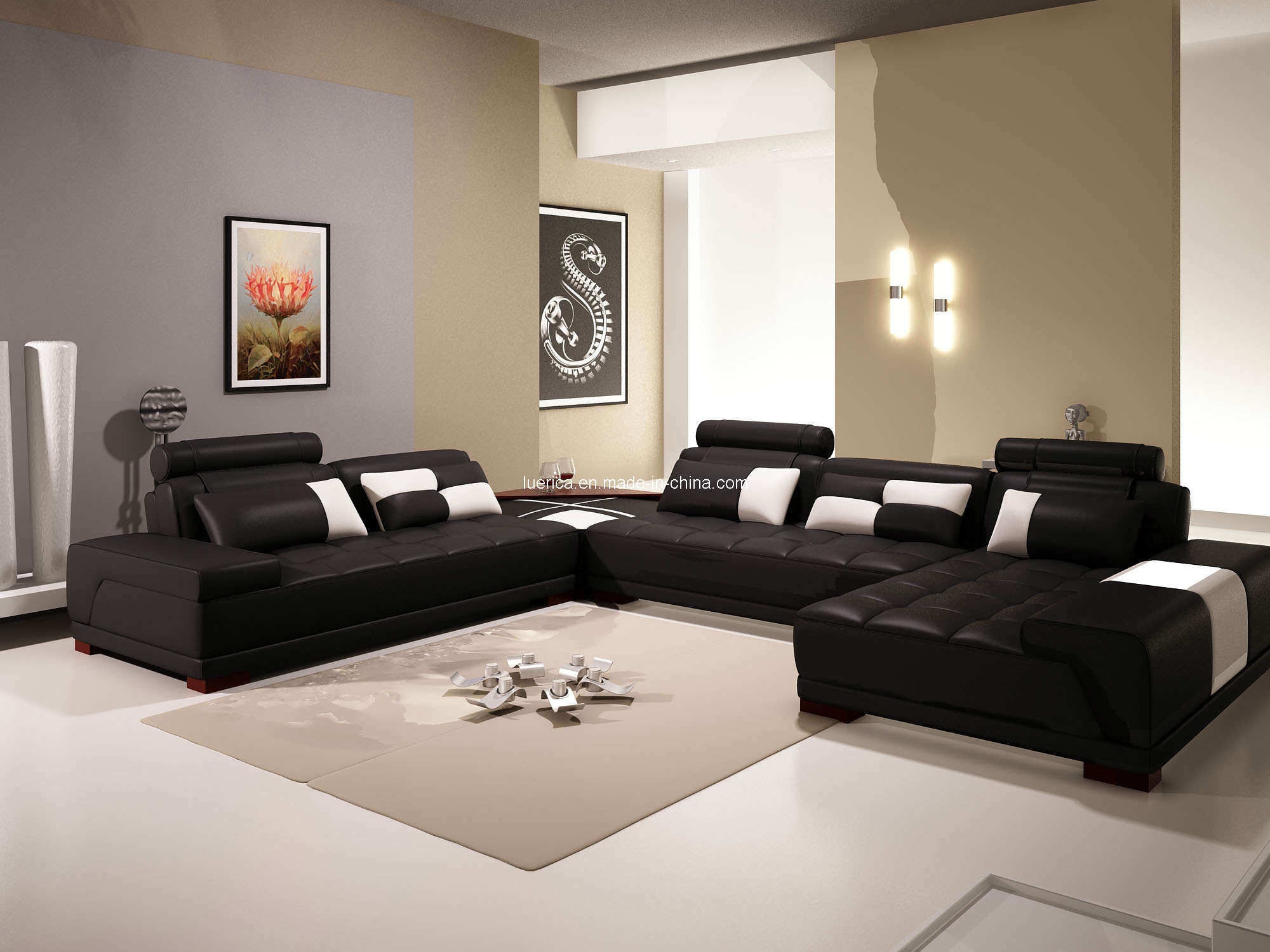 China New Style Sectional Sofa (LY1048) - China New Style Sectional ...
