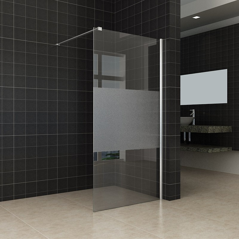 High Quality European Walk-in Glass Simple Shower Screen Frosted Nano
