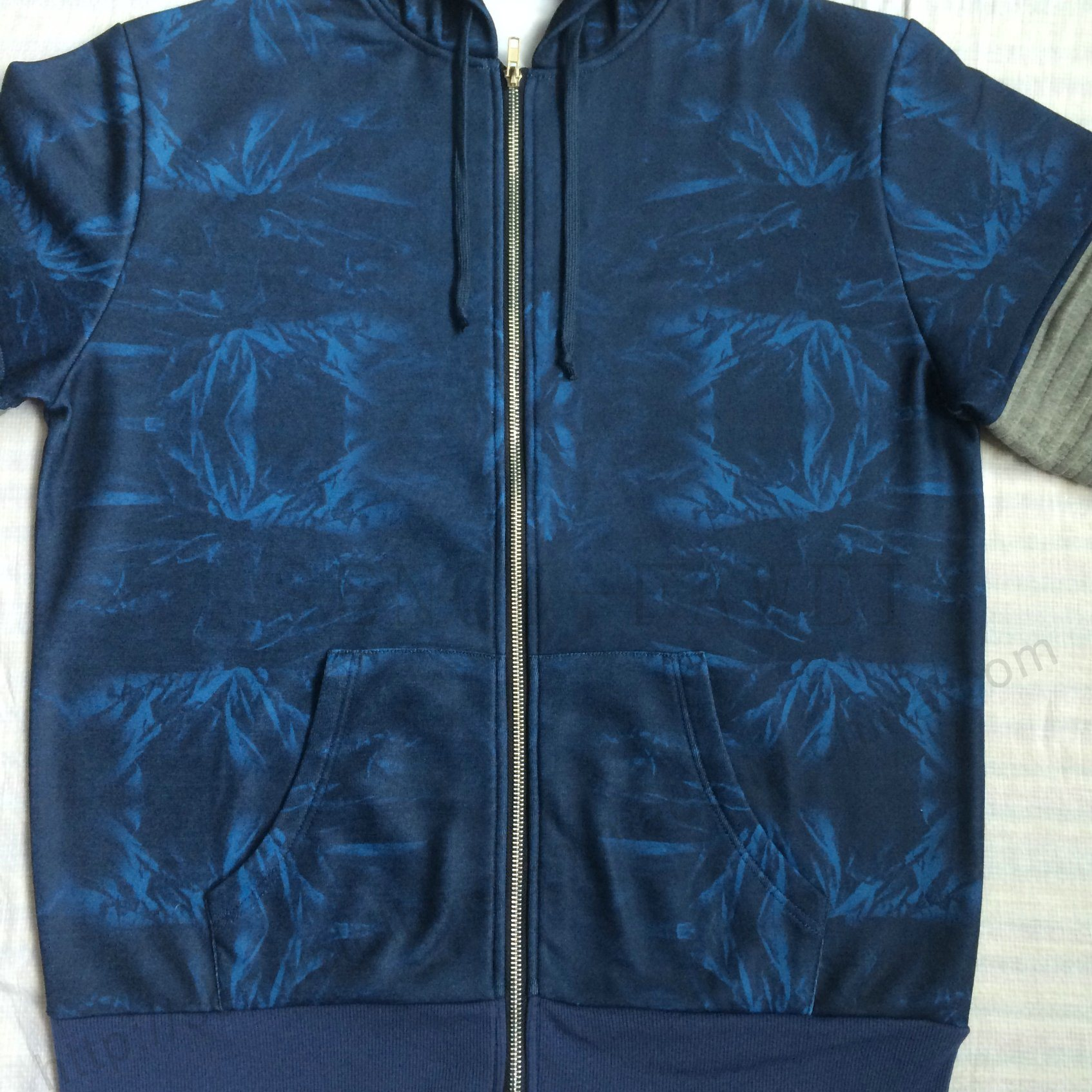Men Denim Transfer Print Sport Tracksuit Clothes in Adult Sport Wear Fw-8665