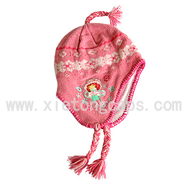 Children Knitted Hat With Earflap (JRK089)
