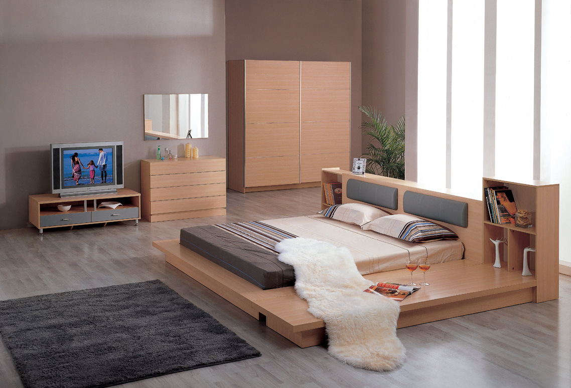China bedroom set bed night stand