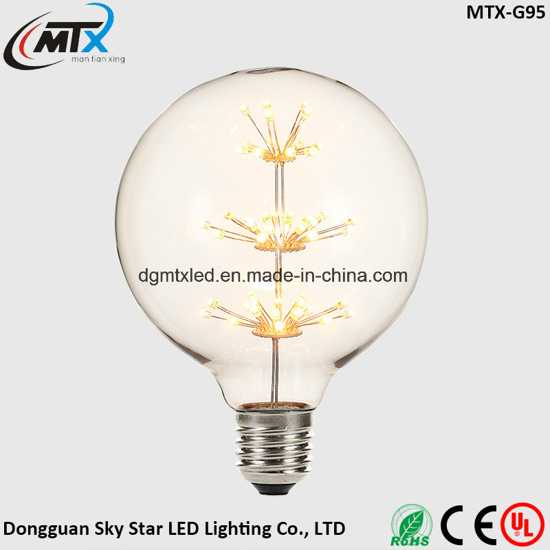 MTX new LED bulb Retro E27 3W Edison Vintage LED Bulb Candle Light bulb 110V/220V G125