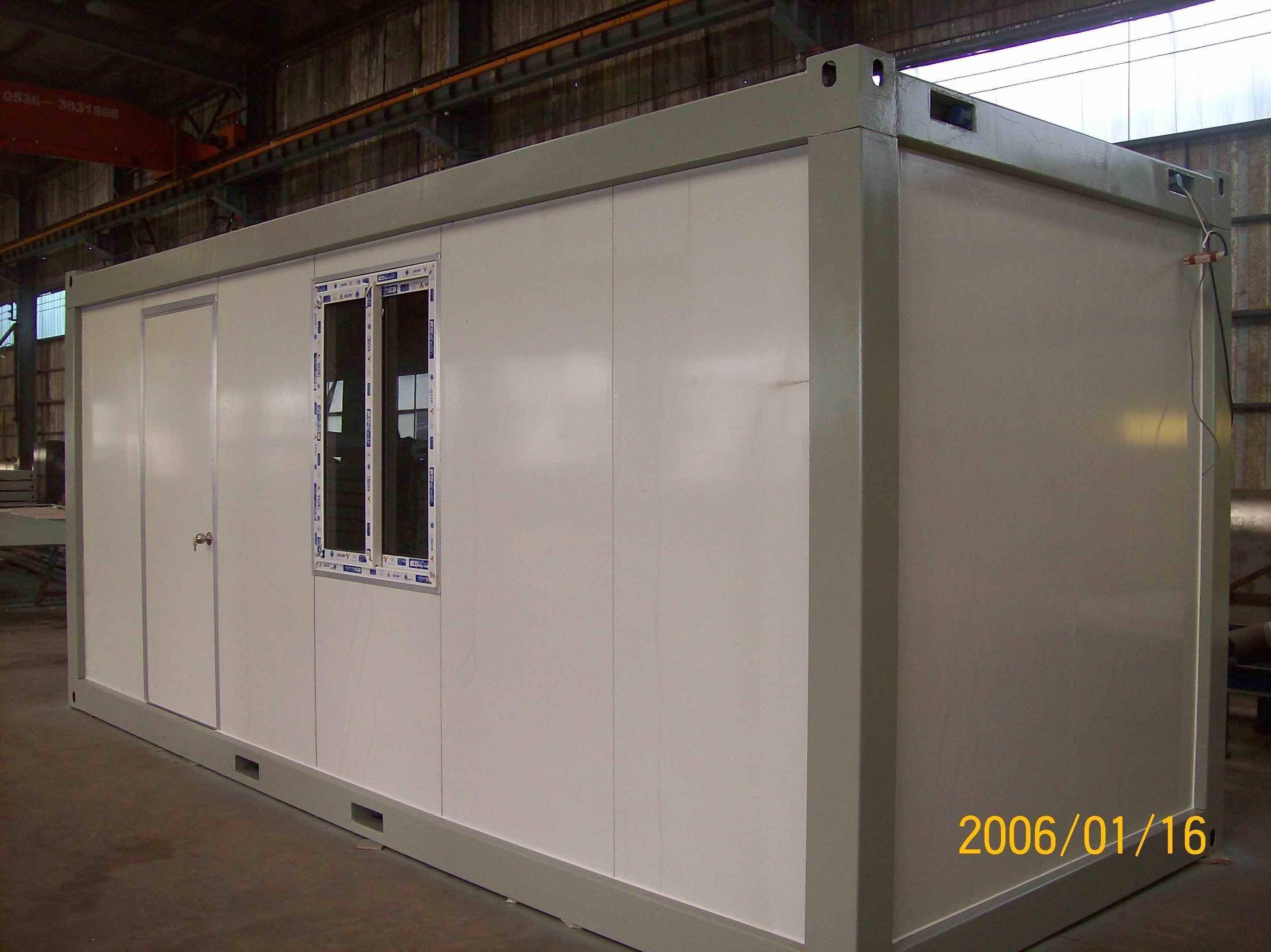De vlak ingepakte draagbare cabine van het huis van de container de vlak ingepakte draagbare - Huis in containers ...