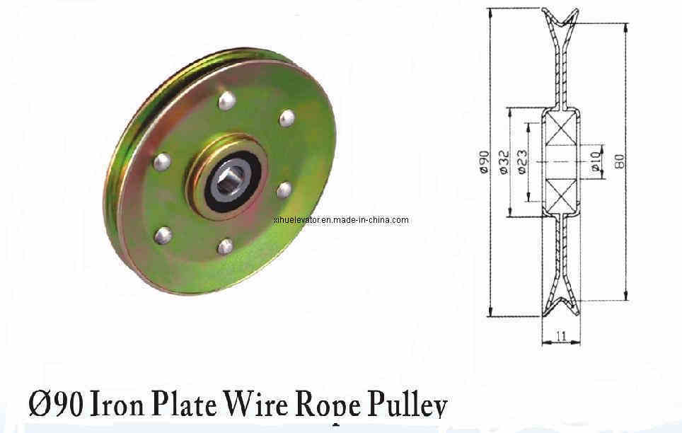 Rope And Pulley Elevator : China elevator parts iron plate wire rope pulley