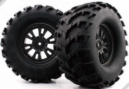 Summit à speedeur 1-8-Monster-Truck-Tire-with-Black-Rim-WC1014-WC1043-