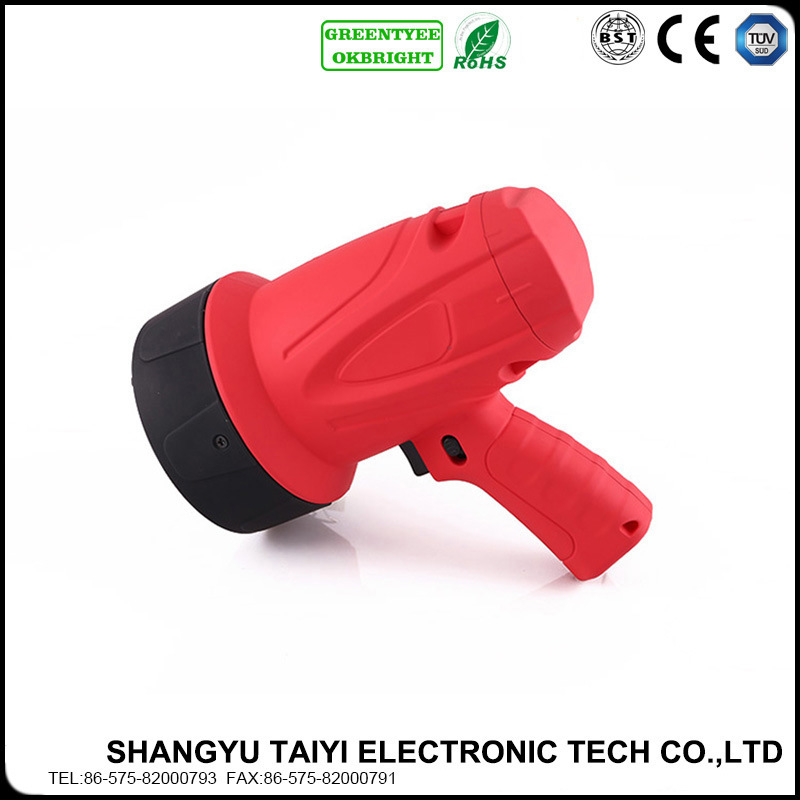Handy Rubberized ABS Rechargeable Brightest Handheld LED Spotlight