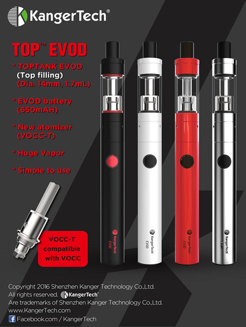 Kanger New Arrival Top Evod E-Cigarette Kit