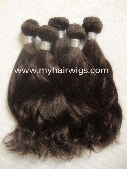 ... Wavy Brown Color (BHHW-06) - China Brazilian Wavy Hair, Hair Weft