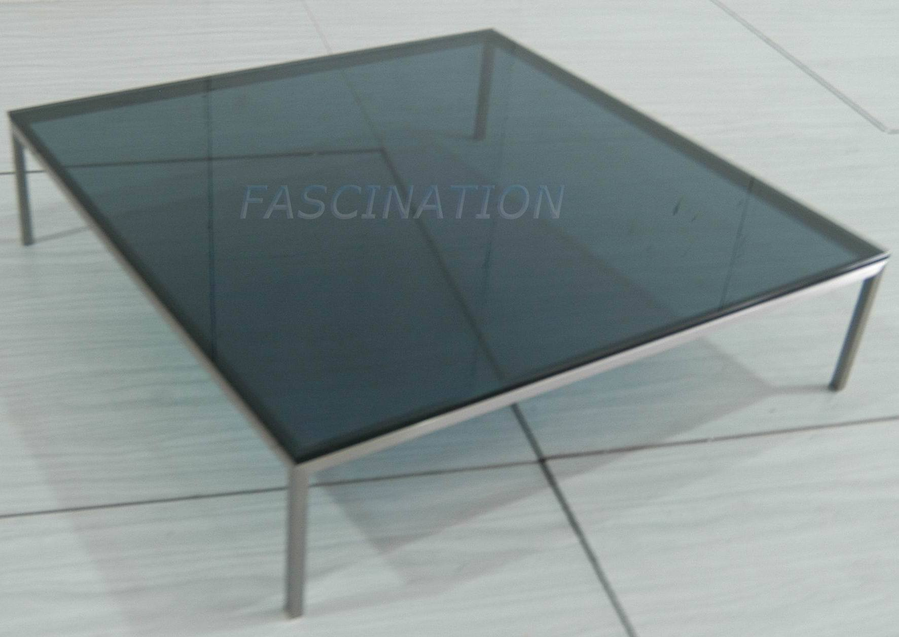 China Glass Furniture Stainless Steel Glass Coffee Table 2b 007 China Stainless Steel