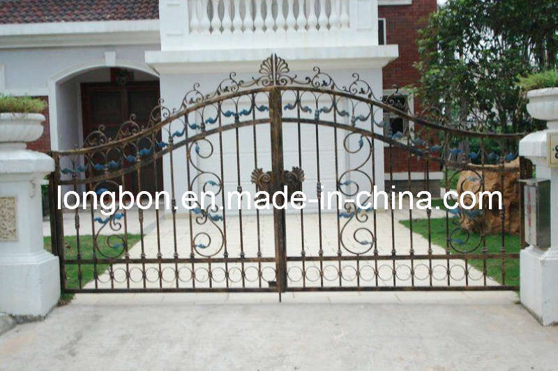 Wrought Iron Grill Gate Design (LB-I-G-0058)