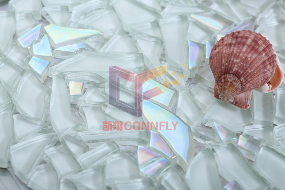 Irregular Tempering Glass Art Crystal Mosaic Tile (CFC250)