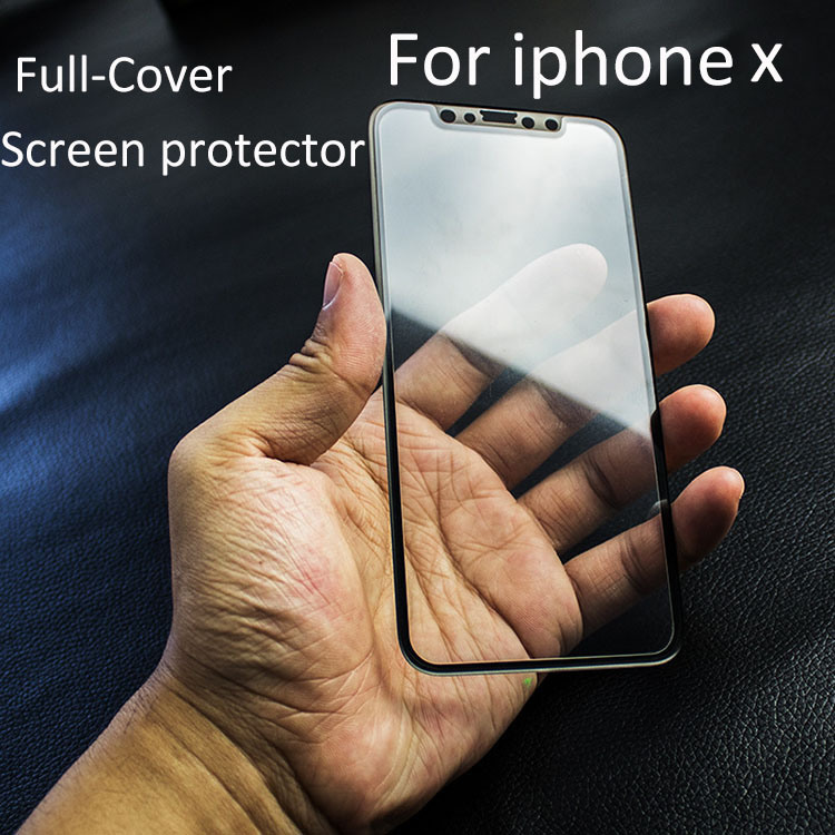 Full-Cover Screen Printing Tempered Glass Screen Protector for iPhone X