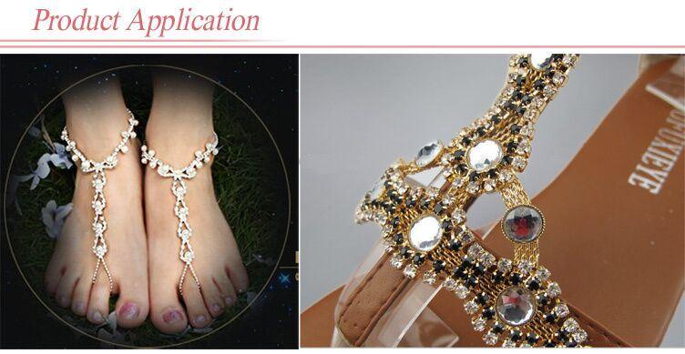Rhinestones Fashion Chain, Fashion Shoe Accessories Sandal Chain