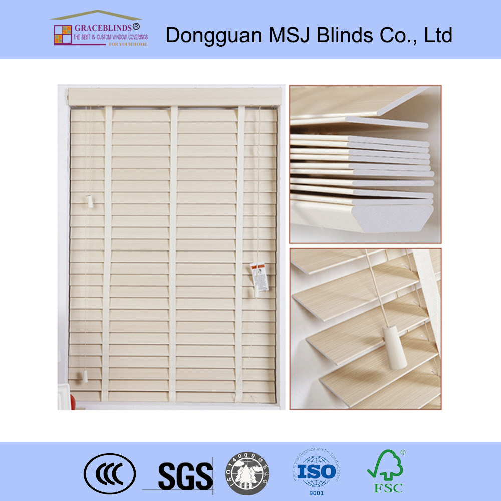 50mm Faux Wood Venetian Blinds with Water-Resistant Function