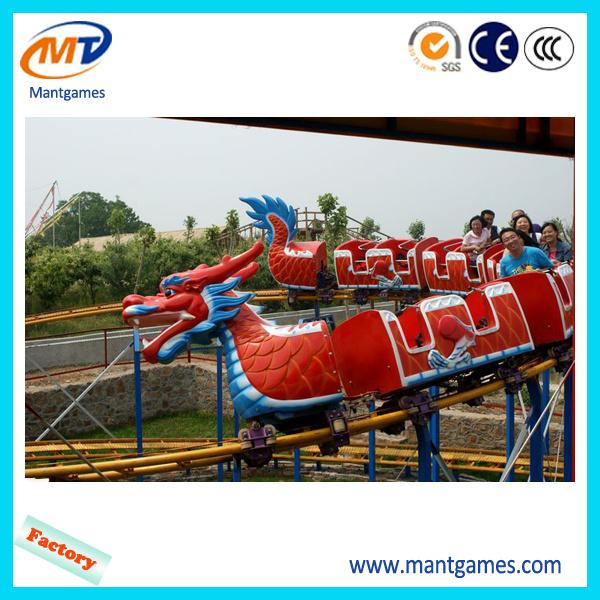 Outdoor Amusement Equipment Roller Coaster: Slide Dragon Train Ride