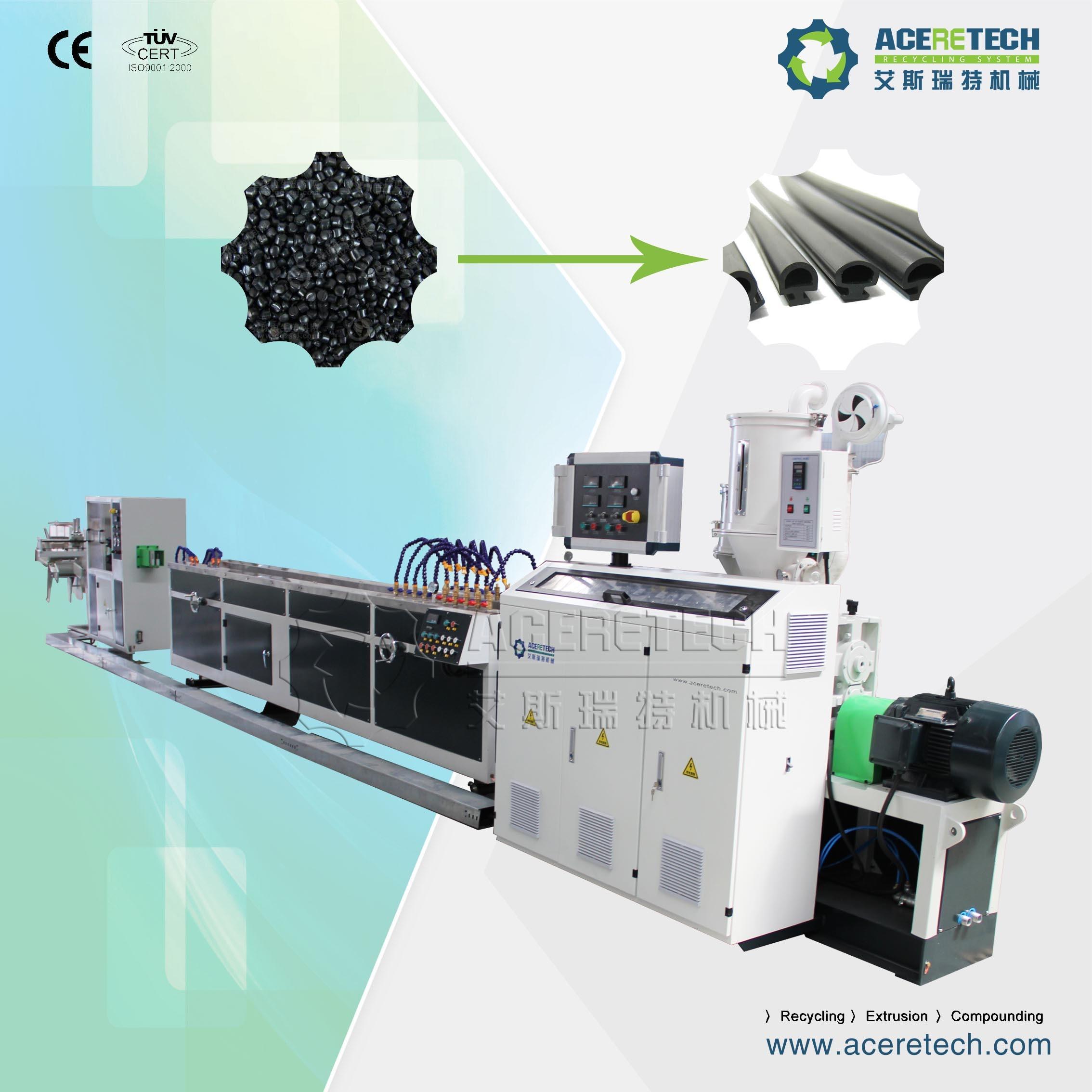 Plastic PVC/SPVC/TPE/TPV/Tpo/TPU Sealing Strip Extrusion Machine