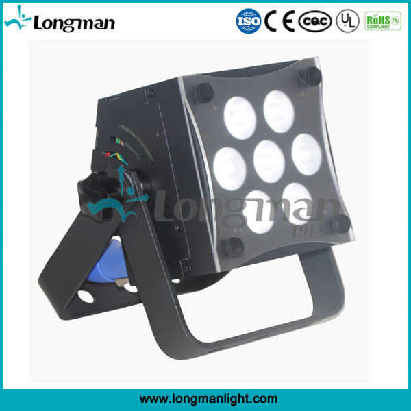 High Power CE 7*12W Rgbaw DMX LED Flat PAR Uplight for Stage
