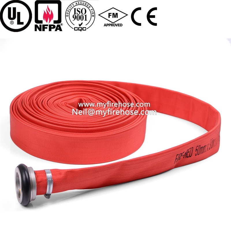 2 Inch Cotton Ageing Resistance of PVC Canvas Fire Hose