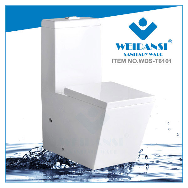 Weidansi Ceramic Wash Down S-Trap One Piece Toilet (WDS-T6101)