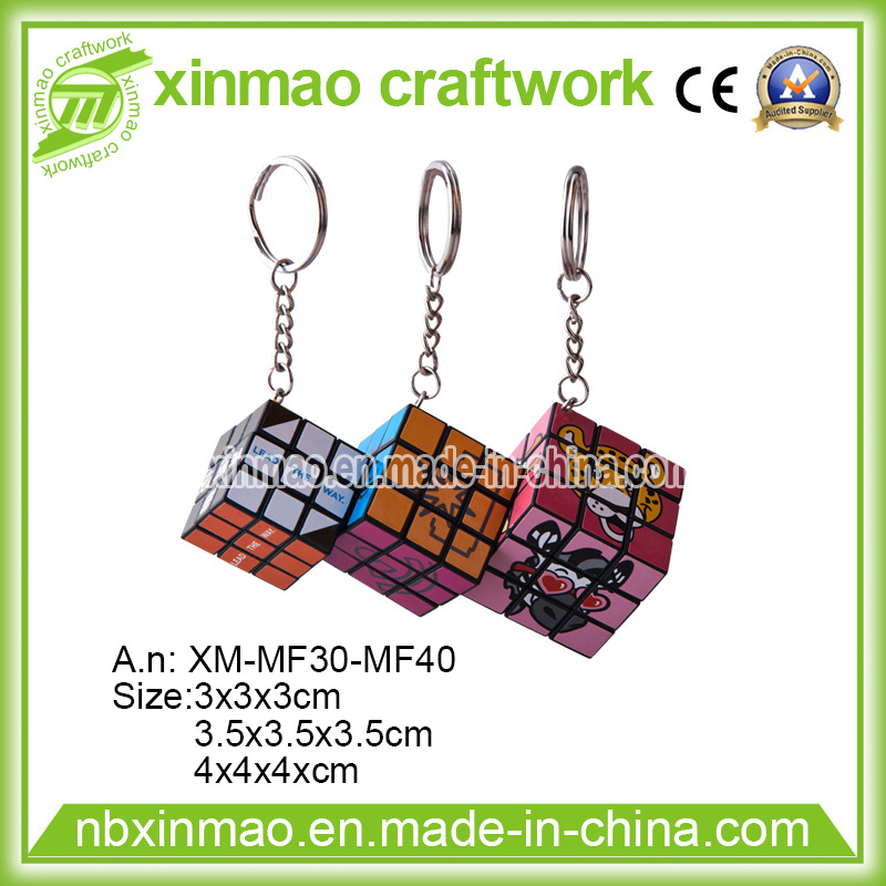 More Size Mini Puzzle Cube with Keychain for Promo