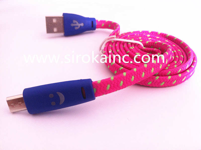 Wholesale Colorful Retractable Micro USB Cable