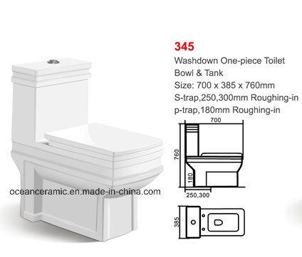 830 Euro Water Closet, Ce Ceramic Toilet