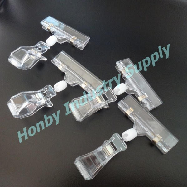 Supermarkert Promotion Clear Acrylic Rotating Pop Sign Holder Clip