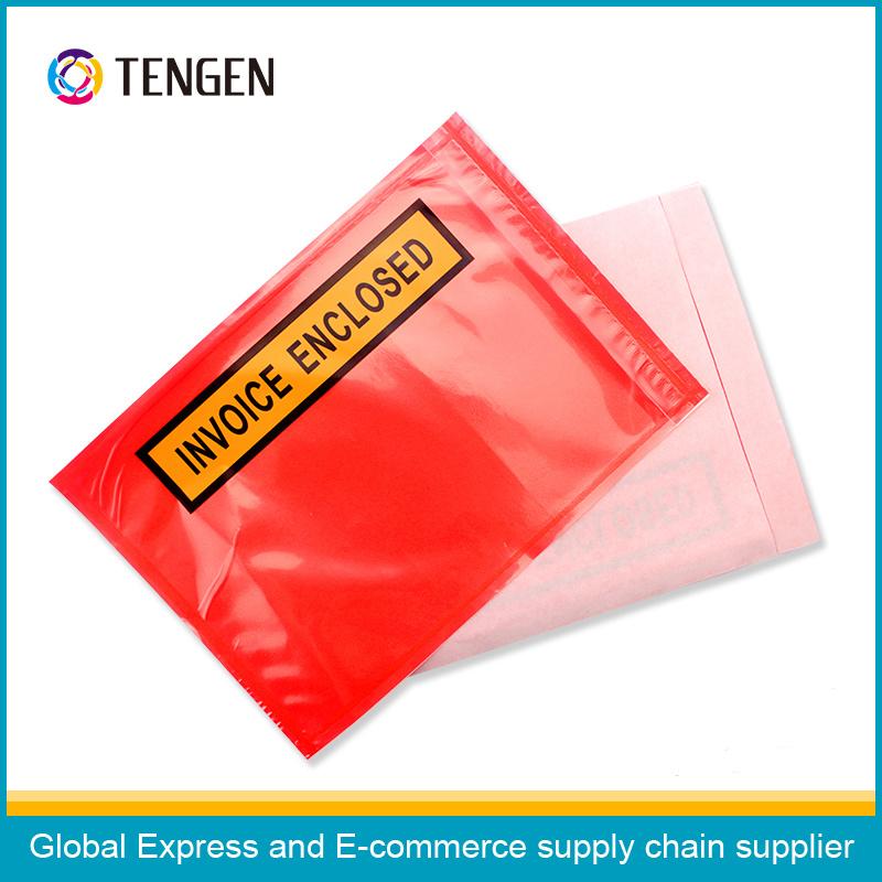 Customize Plastic Invoice Enclosed Bag