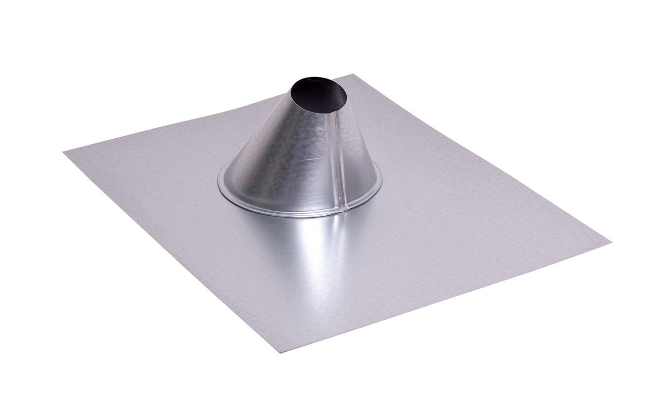 """Galvanized Sheet Metal 1.5"""" Pipe Flashing for Regular Base"""