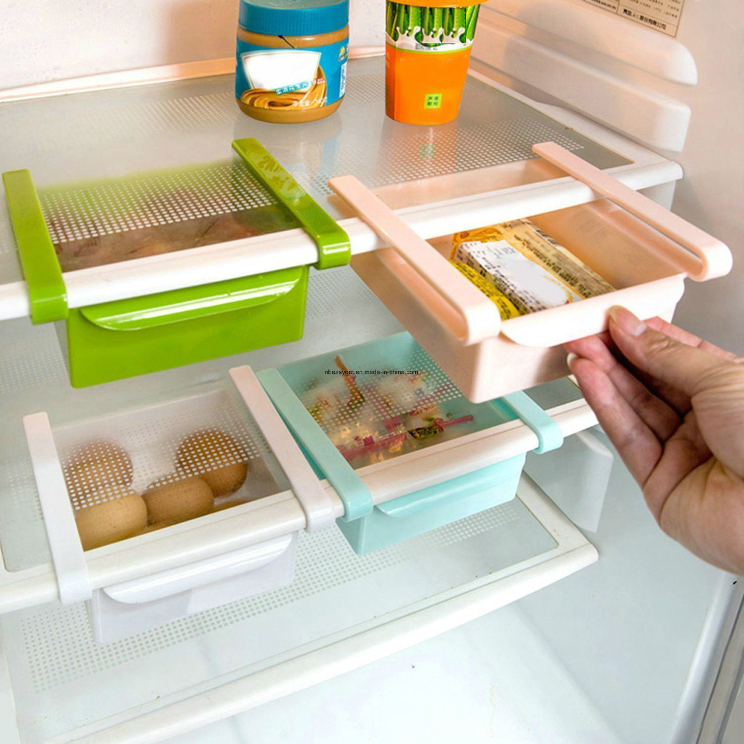Refrigerator and Fridge Storage Organizer Bins Desk Organizer