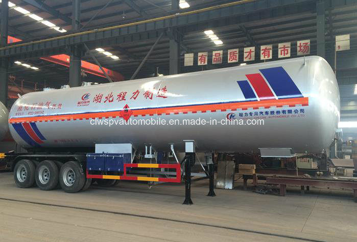 60 Cbm M3 Liquefied Gas Tank Trailer 60000 Liters LPG Transport Truck
