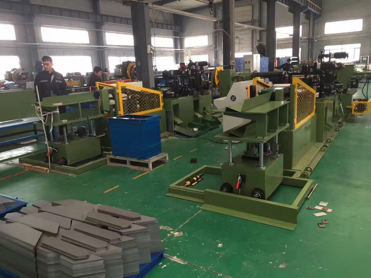 Punching and Swing Cutter Cut to Length Line