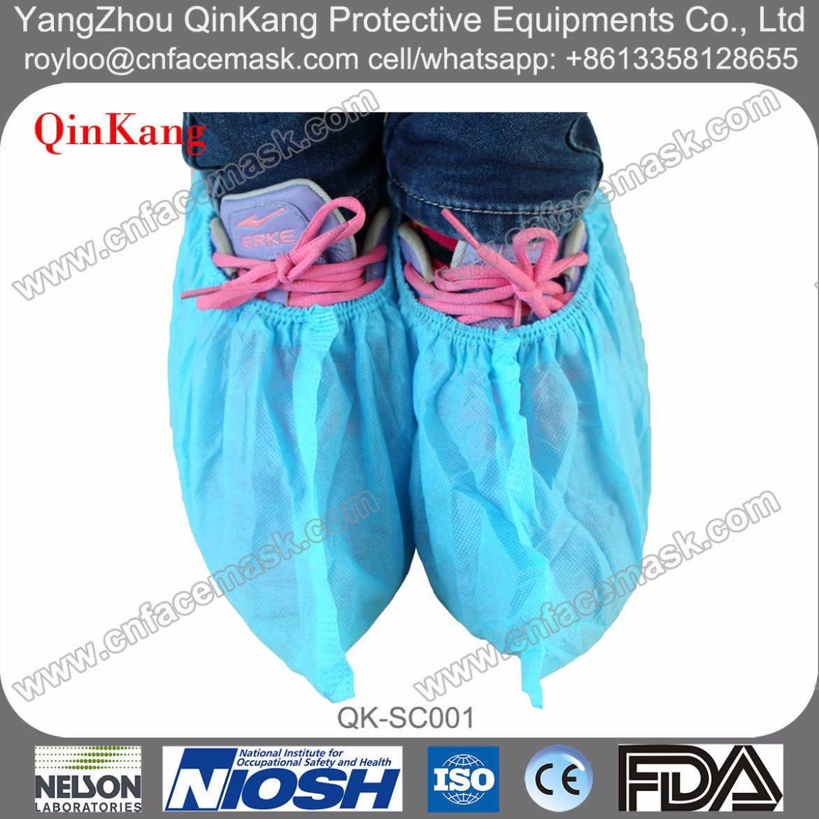 Disaposable Non Woven PP/PE/PU/CPE/PP+CPE Waterproof Shoe Cover