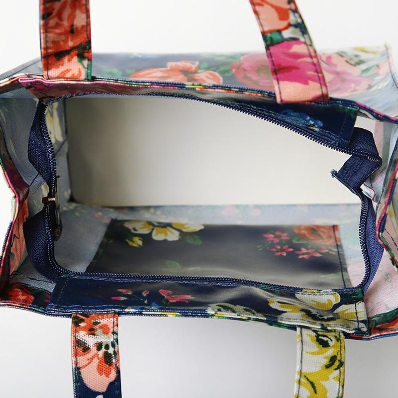 Pastoral Floral Patterns PVC Canvas Shopping Bag (2293-1)