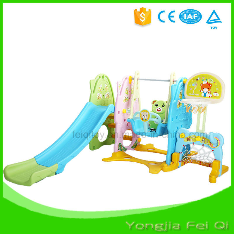 Indoor Mutifunction Playground Slide and Swing for Kid Q Series2