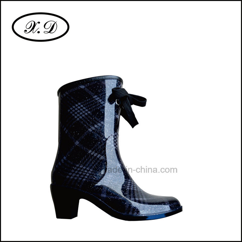 Ladies Fashion Rain Boots with PVC