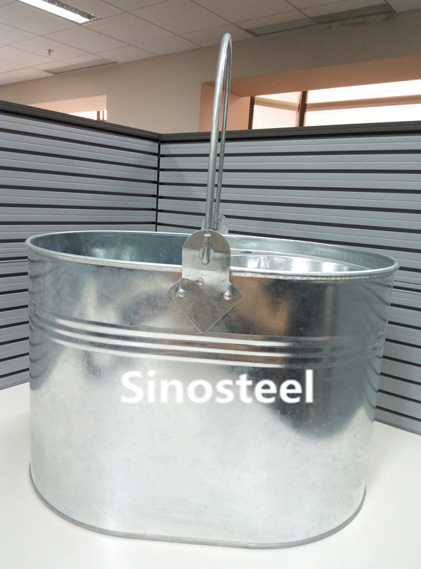 Hot Sale House Cleaning Tool Metal Galvanized Mop Bucket