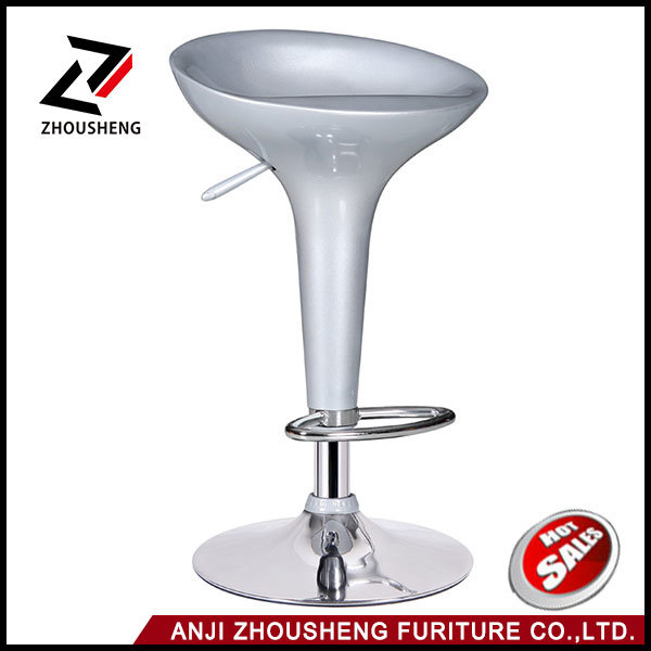 High Quality Colorful ABS Plastic Bar Chair with Chromed Footrest and Base