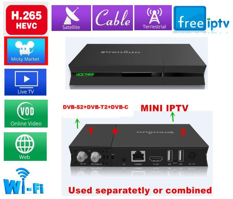 I9 STB with Twin Tuner Support IPTV / DVB-T / DVB-S / DVB-C