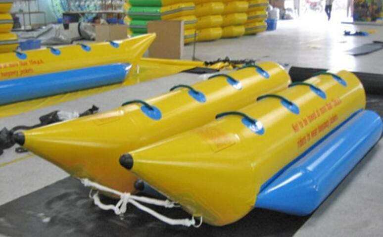 Exciting Water Game Inflatable Double Lane Banana Boat for Sale