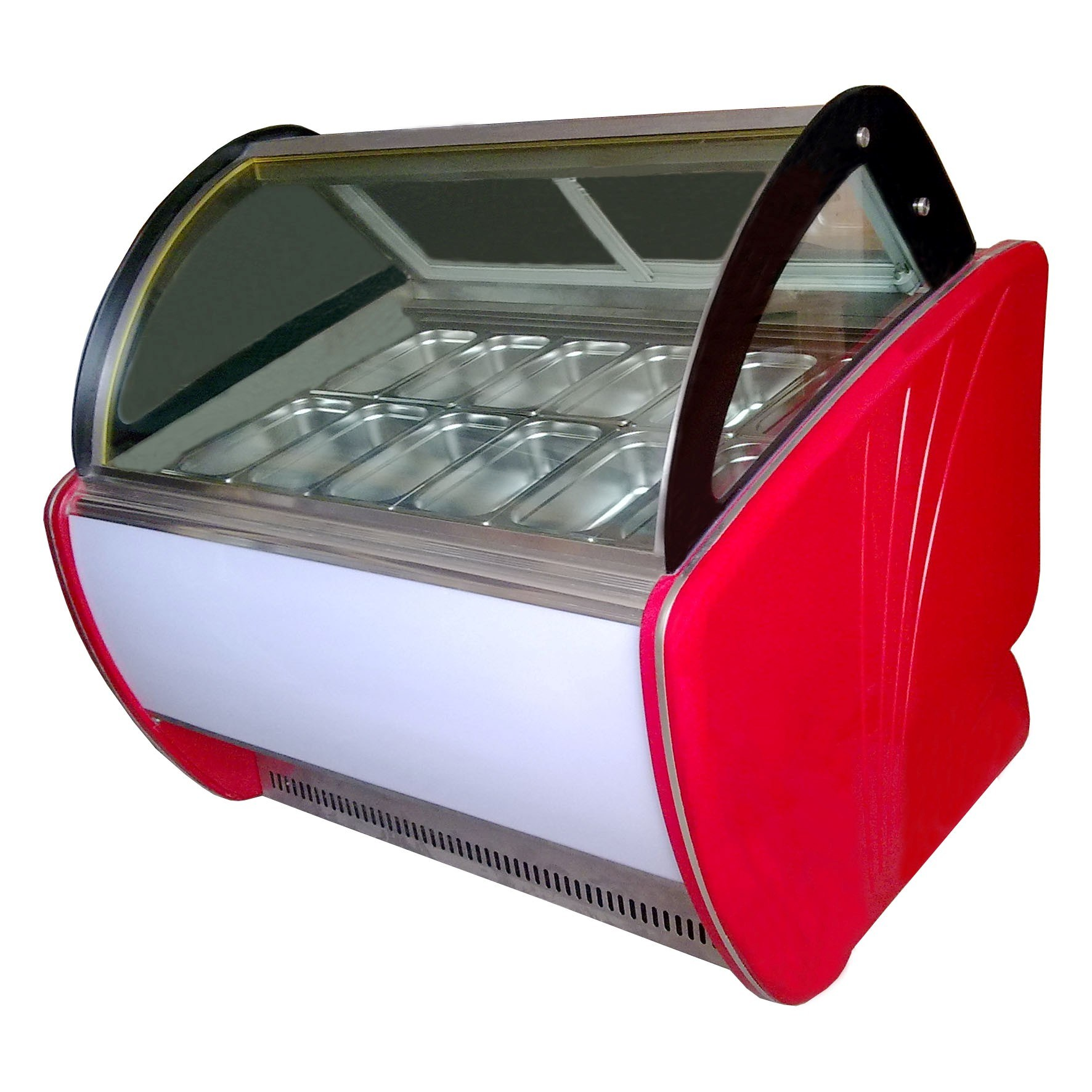 14 Flavors Hard Ice Cream Display Case