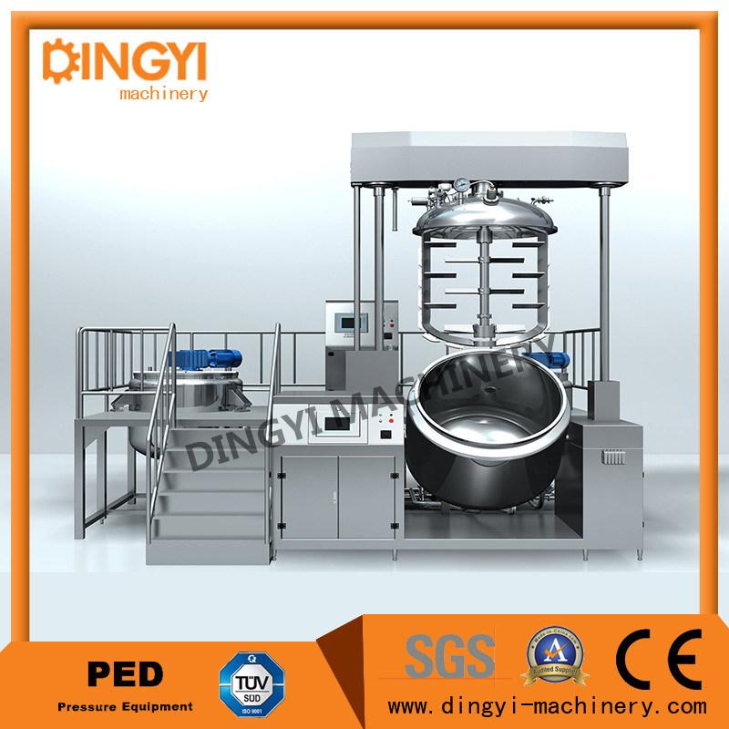 Cream Ointment Lotion Hair Color Vacuum Emulsifying Mixer Homogenizer (ZRJ-50)