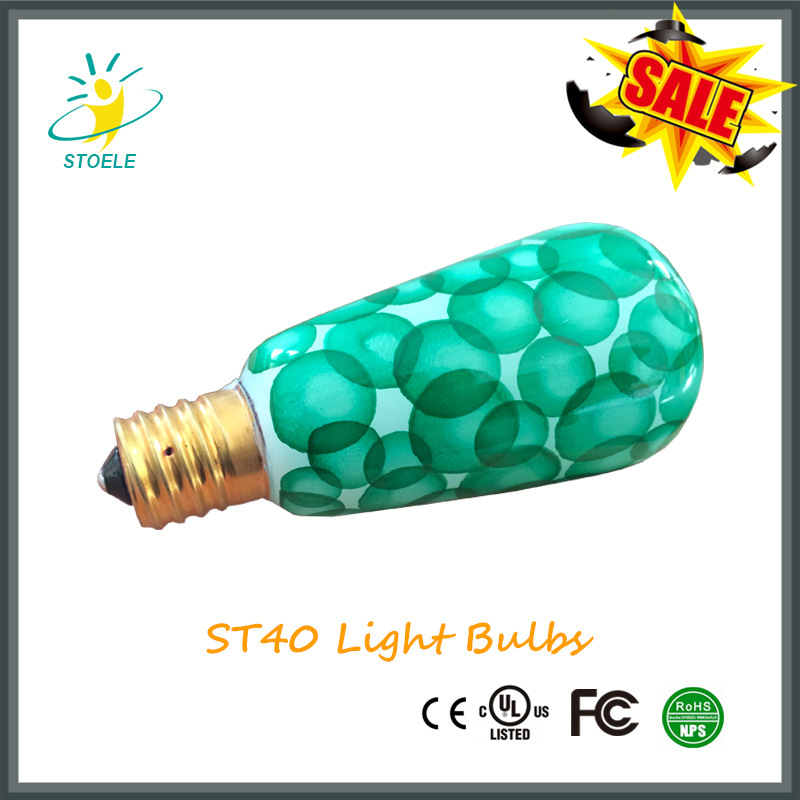 St40 Multiple Color Incandescent Bulbs String Lighting Christmas Bulb