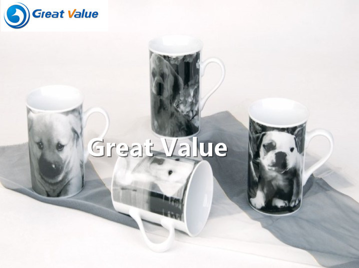 Cute Animal Decal Ceramic Porcelain Tea Cups