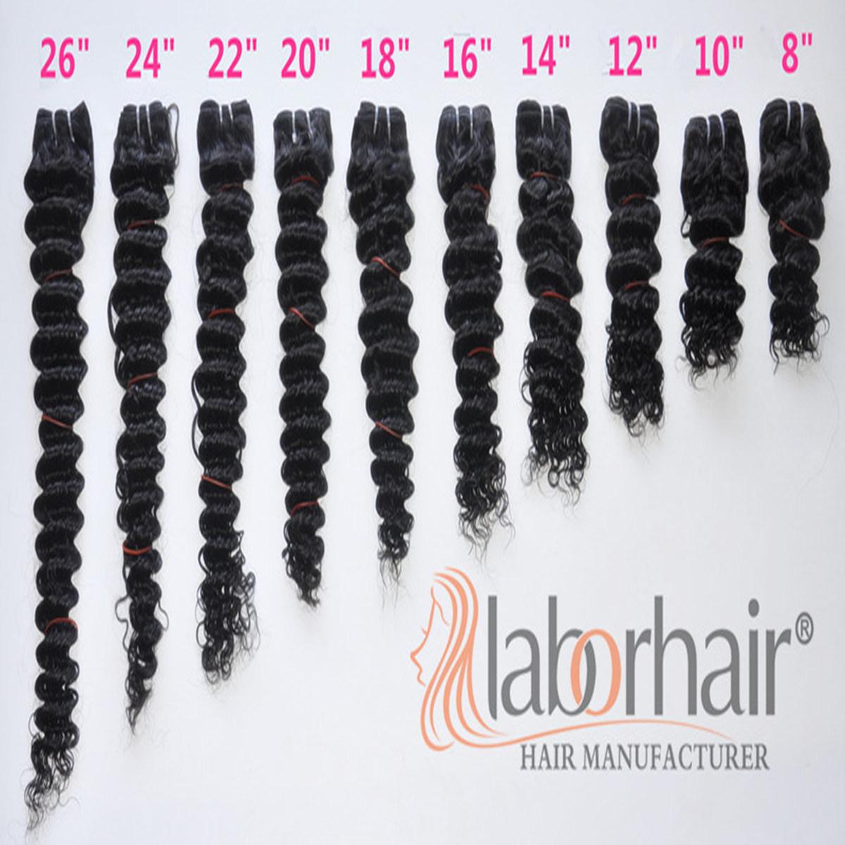Labor Hair Products Brazilian Hair Weave Bundles Deep Curly Virgin Hair 105g, Top Human Hair Extension Bundles