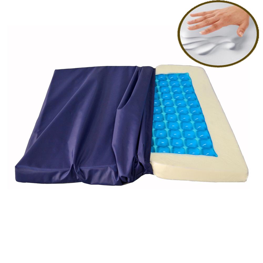 Memory Foam Gel Wheelchair Cushion for Medical Use